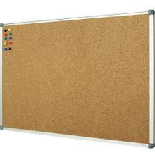 "Lockways Corkboard Bulletin Board - Double Sided Cork Board 48 x 36 Notice Message Board 4 x 3 - Silver Aluminium Frame U12118762709 for Home, School & Office (Set Including 10 Push Pins)(36 X 48"")"